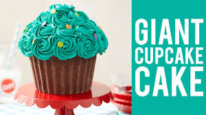 how to make a giant cupcake cake youtube