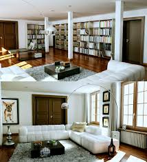 living rooms that sport a book collection
