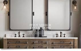 Pottery Barn Bathroom Ideas Vintage Pivot Mirror Pottery Barn Within Elegant Bathroom Pivot
