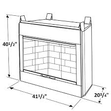 Vent Free Propane Fireplaces by 36 U0027 U0027 Fmi Alpine Outdoor Vent Free Natural Gas Fireplace With White