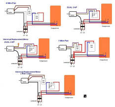 wiring diagram 4 wire condenser fan motor wiring diagram 4 wire