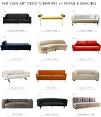 deco sofa achieving the parisian deco style furniture emily henderson