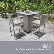 Oasis Outdoor Patio Furniture Garden Oasis Miranda 5 Piece Dining Set Tk Classics Oasis Bar