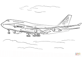 boeing 747 400 coloring page free printable coloring pages
