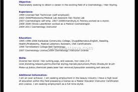 Recent Graduate Resume Examples by Cosmetology Resume Example Recent Graduate Resume Cosmetologist