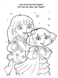 free printable dora christmas coloring pages picture 42 550x745
