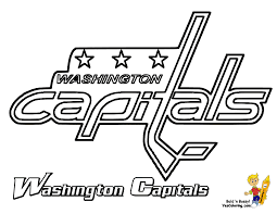 washington capitals coloring pages coloring page