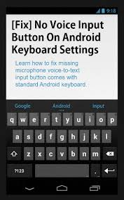 text android fix no voice input button on android keyboard settings