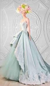 aqua mint turquoise breathtaking couture wedding dress princess