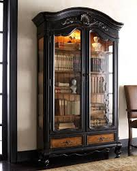 Vintage Bookcase With Glass Doors Unfinished Wood Bookcases With Glass Doors Antique Bookshelves