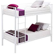 Ft Small Single Wooden White Bunk Bed Zara Amazoncouk - Small single bunk beds