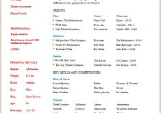 Build Your Own Resume Marvelous Idea Build Your Own Resume 12 Acting Resume Template