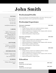Free Resume Template Open Office by Resume Templates Open Office Yun56 Co