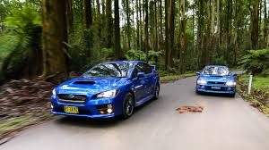 old subaru impreza subaru wrx sti old v new comparison 2015 sedan v 1999 two door