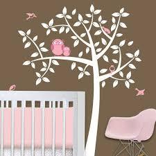 Nursery Owl Wall Decals Owl Tree Baby Owl Nursery Theme Nursery Wall Decals Baby