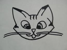 simple cat face drawing how to draw a cute kitten face tab cat