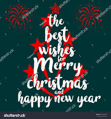 best wishes merry happy new stock vector 748849066
