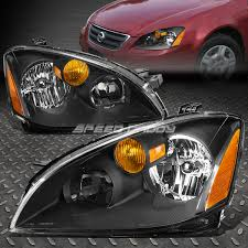 nissan altima 2005 headlight assembly black housing crystal lens headlight amber corner light for 02 04