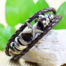 star bangle bracelet images Star bangle bracelet zinc alloy w brown genuine leather the jpg
