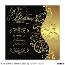 60th Birthday Invitation Card Birthday Invites Surprising Black And Gold Birthday Invitations