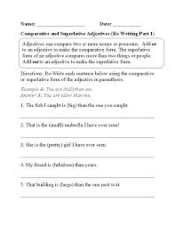 adjective worksheets 7th grade free worksheets library download
