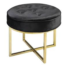 ottoman with 4 stools round black ottoman new button tufted steel inside 15