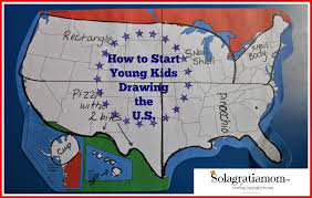 Kids Map Of The United States by Solagratiamom July 2014