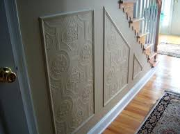 Spell Wainscoting Using Paintable Textured Wallpaper To Create A Whole New Look