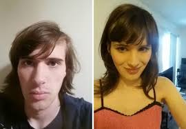 forced feminine hairstyles on men man documents incredible transformation into woman in 17 months