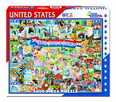 Untied States Of America Map by Amazon Com White Mountain Puzzles United States Of America 1000