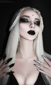 Black And White Halloween Makeup Ideas Model Mua Ida Marcovefa Gothic Makeup Black Lips Tomato