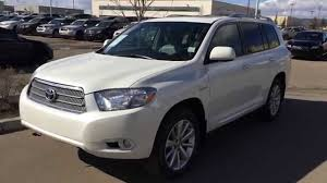 pre owned white 2009 toyota highlander hybrid limited fort