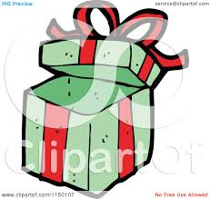 cartoon of a christmas gift box royalty free vector clipart by