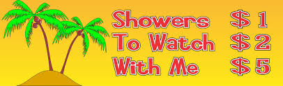 extended shower price list funny beach sign with palm trees