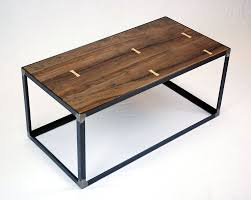 Industrial Wood Coffee Table by Hand Crafted Salvaged Black Walnut Industrial Coffee Table By