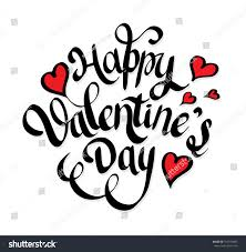 happy valentines day lettering hearts hand stock vector 557674045