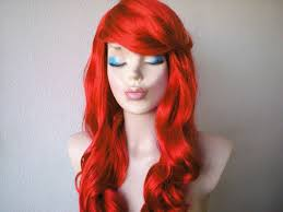 red wigs for halloween red wig ariel wigs by unique