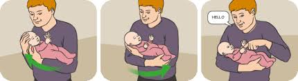 how to hold a baby or newborn in pictures raising children network