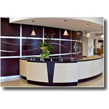 Reception Office Furniture by Modern Reception Desk Design Ergonomic Office Chairs Polyvore