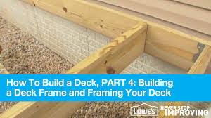 how to frame a floor how to build a deck part 4 building a deck frame and framing