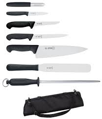 7 piece giesser knife set and case professional knife set