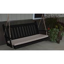a u0026l furniture co traditional yellow pine 4 u0027porch swing rocking