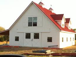 Metal Siding For Pole Barns 36x48 Gable Barn With Painted Hardie Plank Siding And Metal Roof