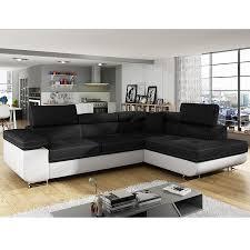 canapé d angle blanc et noir canapé angle convertible noir et blanc sofamobili