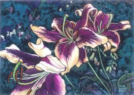 purple lillies purple lilies julie dunn