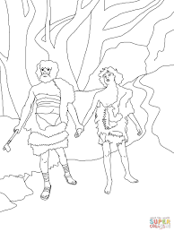 cain lead abel to death coloring page free printable coloring pages