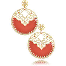 arabian earrings orange earrings polyvore