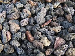 black lava rock pebbles bagged products landscaping