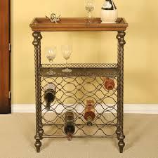 wine tables and racks passport wood metal wine table with 16 bottle wine rack 2112