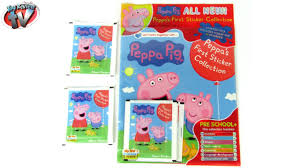 peppa pig sticker collection album review u0026 pack opening